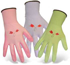 Boss Mfg Co 8429M Ladies' Nylon Knit Gloves With Nitrile Palm, Medium