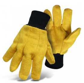 Boss Mfg Co 4037 Poly/Cotton Flannel Yellow Chore Glove