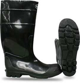 Boss Mfg Co 2KP200109 PVC Over-The-Sock Knee Boot Black Sz 9