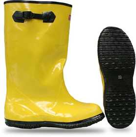 Boss Mfg Co 2KP448114 Rubber Over-The-Shoe Slush Knee Boot 17 in Yellow Sz 14