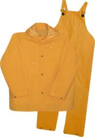 Boss Mfg Co 3PR0300YG Lined PVC Rain Suit 35mm, 3-Piece, Yellow 3XLarge