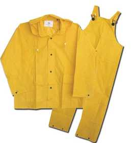 Boss Mfg Co 3PF2000YL Unlined PVC Rain Suit 20mm, 3-Piece, Yellow Large