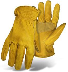 Boss Mfg Co 60392X Grain Cowhide Leather Driver With Palm Patch Glove 2XLarge
