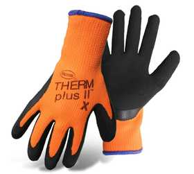 Boss Mfg Co 7843L Therm Plus II High-Vis Gloves with Latex Coated Palm, Large