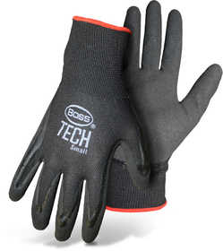Boss Mfg Co 7820M Boss Tech Nylon Shell Glove With Foam Nitrile Palm Size Medium