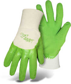 Boss Mfg Co 8404GXS Boss Dirt Digger Ladies' Green Textured Coated Gloves Size Extra Small