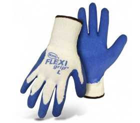 Boss Mfg Co 8426M Flexi Grip String Knit Gloves With Latex Palm, Medium