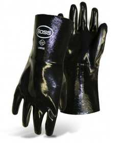 Boss Mfg Co 951 Boss Chemguard Black Neoprene Gloves With Gauntlet Cuff Size Large