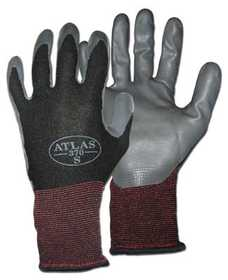 Boss Mfg Co 8441L Gloves Mens Atlas Black Nylon Nitrile L