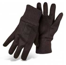 Boss Mfg Co 4020 Brown Jersey Knit Gloves 8 Oz Size Large