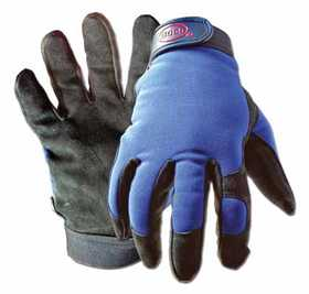 Boss Mfg Co 890L Gloves Split Leather Black/Black/Blue L
