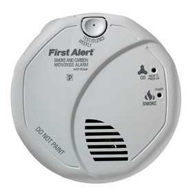 First Alert SC7010BV 120V AC/DC Photoelectric Hardwired Smoke And Carbon Monoxide Alarm With Voice
