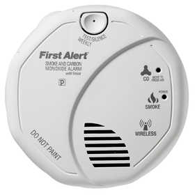 First Alert SCO501CN-3ST Wireless Interconnect Battery Operated Smoke And Carbon Monoxide Combo Alarm With Voice Location