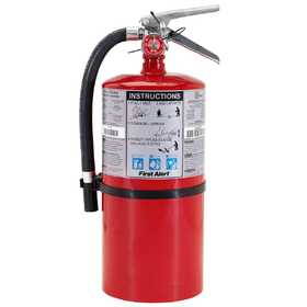 First Alert PRO10 Commercial Fire Extinguisher Rechargeable 4-A:60-B:C
