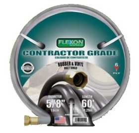 Flexon CG5850 Contractor Grade Rubber And Vinyl 60 ft Hose With 5/8 in Diameter
