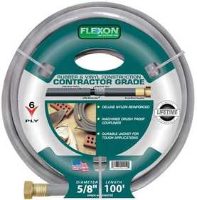 Flexon CG58100 Contractor Hose 5/8x100 6ply 10yr