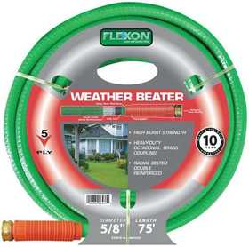 Flexon WB5875 5/8-Inch X 75-Foot 5-Ply Weather Beater Hose