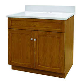 Foremost Groups HEO3018 30x18 Oak Vanity And Top Combo