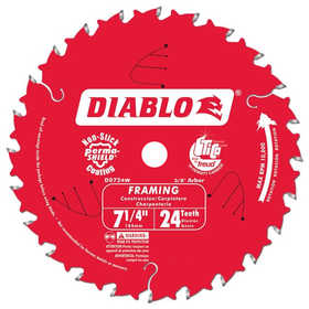 Freud DO724A 7-1/4 In 24 Tooth Diablo Framing Saw Blade