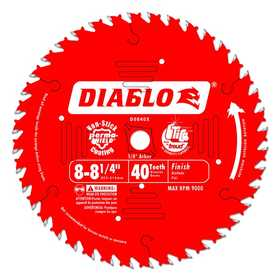 FREUD D0840X 8 in to 8-1/4 in 40 Tooth Finishing Saw Blade