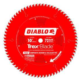 FREUD D1072CD 10 in 72 Tooth Diablo Composite Material/Plastics TrexBlade