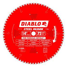 FREUD D1472F 14 in 72 Tooth Diablo Steel Demon Metal Cutting Saw Blade