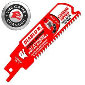 FREUD DS0408CF 4 in Diablo Steel Demon Carbide Tipped Reciprocating Saw Blade