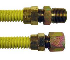 JMF Company 96010-0 Corrugated Brass Gas Connector 1/2od X 48 in