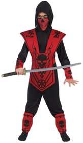 Fun World 110092 Skull Lord Ninja Red