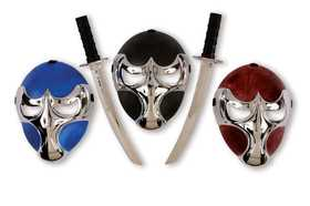 Fun World 93314 Raven Ninja Chrome Mask & Sword Set