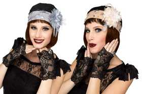 Fun World 90516 Flapper Cloche & Gloves Set