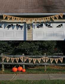 Fun World 9825 12 ft Burlap Halloween Banner