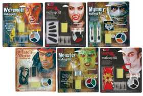 Fun World 9421 Classic Character Makeup Kit Assortment Vampiress