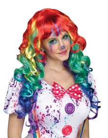 Fun World 92397 Rainbow Curlz Wig