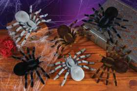 Fun World 91188 5.5 in Flocked Spiders