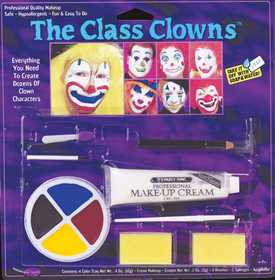 Fun World 9475 Family Makeup Character Kit Clowns