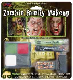 Fun World 9475 Family Makeup Character Kit Zombies