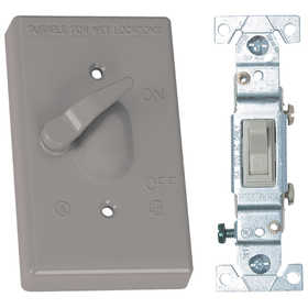 SIGMA ELECTRIC/GAMPAK 14216 1-Gang Toggle Cover With Single Pole 15a Switch - Gray