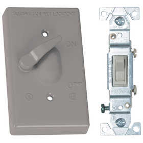 SIGMA ELECTRIC/GAMPAK 14218 1-Gang Toggle Cover With 3-Way Switch - Gray
