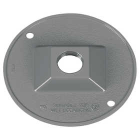 Sigma Electric/Gampak 14381 1/2-Inch Gray One Hole Round Lampholder Cover