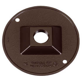 SIGMA ELECTRIC/GAMPAK 14381BR 1/2 In One Hole Round Lampholder Cover - Bronze