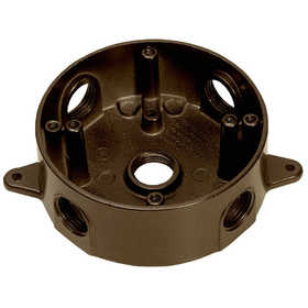 SIGMA ELECTRIC/GAMPAK 143854BR 1/2 in Five Hole Round Box - Bronze