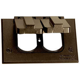 Sigma Electric/Gampak 16245BR 1-Gang Horizontal Duplex Cover