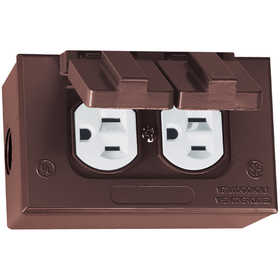 Sigma Electric/Gampak 16446BR Rectangular Box, Cover And Duplex Receptacle Kit Bronze