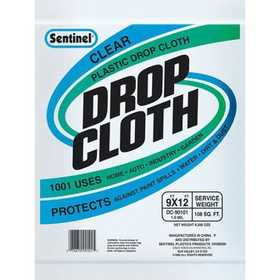 Howard Berger DC90050 Drop Cloth 9x12 Utility Clear Service Weight .3