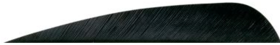 Gateway Feathers 400RPSBK-50 4 In Parabolic Black Right Winged