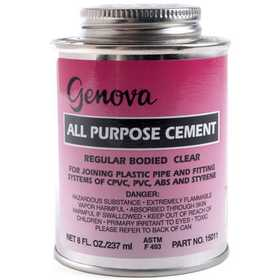 Genova 15011 All Purpose Cement 1/2 Pt