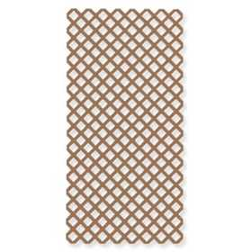 Genova LC100 Vinyl Lattice Panel 4x8 Cedar Brown