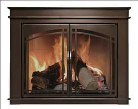 GHP Group FN-5702 Glass Door Fire Screen Fenwick Oil Rubbed Bronze Finish Large