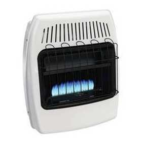 GHP Group BF20DTFDG-1 Dyna Glo 20k Btu Vent Free Dual Fuel Wall Heater With Legs And Blower